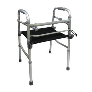 Andadera con asiento de lona para adulto para adulto.