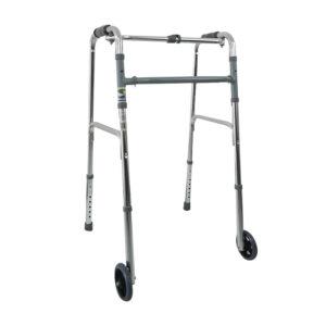 Andadera con ruedas fabricada en aluminio
