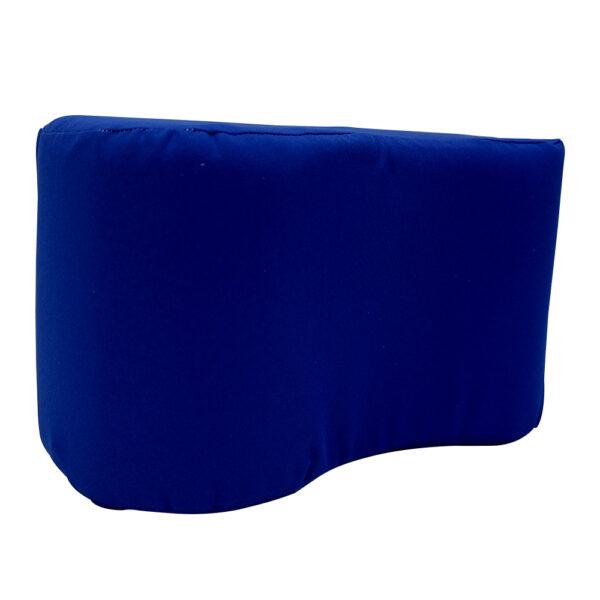 Almohada para entrepierna de color azul de lado derecho