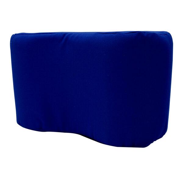 Almohada para entrepierna de color azul de lado izquierdo